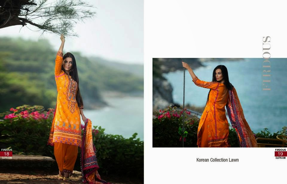 Firdous lawn collection 2015