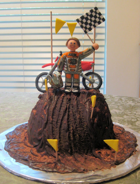 Motocross Dirt Bike Racing Cake 1