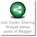 Add Foldable Sharing Widget below posts of Blogger