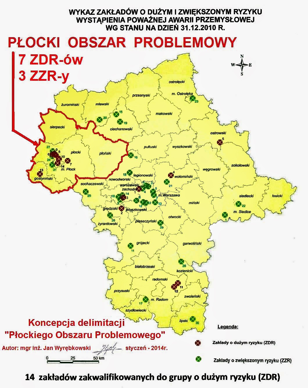 Koncepcja delimitacji Płockiego Obszaru Problemowego