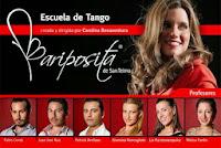 Los profesores de las escuela de Tango Mariposita