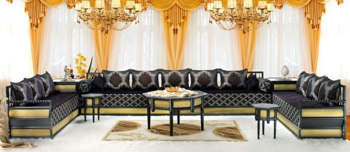 fantastique artisanat salon marocain traditionnel 2015. Black Bedroom Furniture Sets. Home Design Ideas