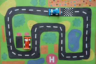 Make a racing car play mat
