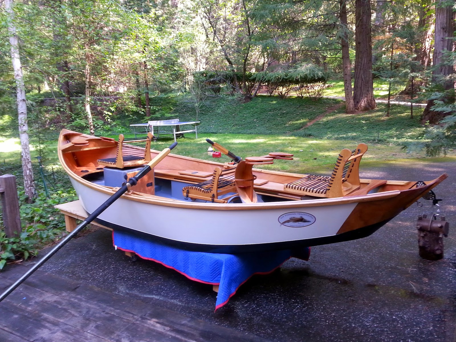 Fly fishing traditions kingfisher drift boat build i 39 m done for Drift boat fishing