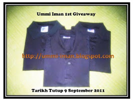 """Ummi Iman 1st Giveaway"" (2nd Winner)"