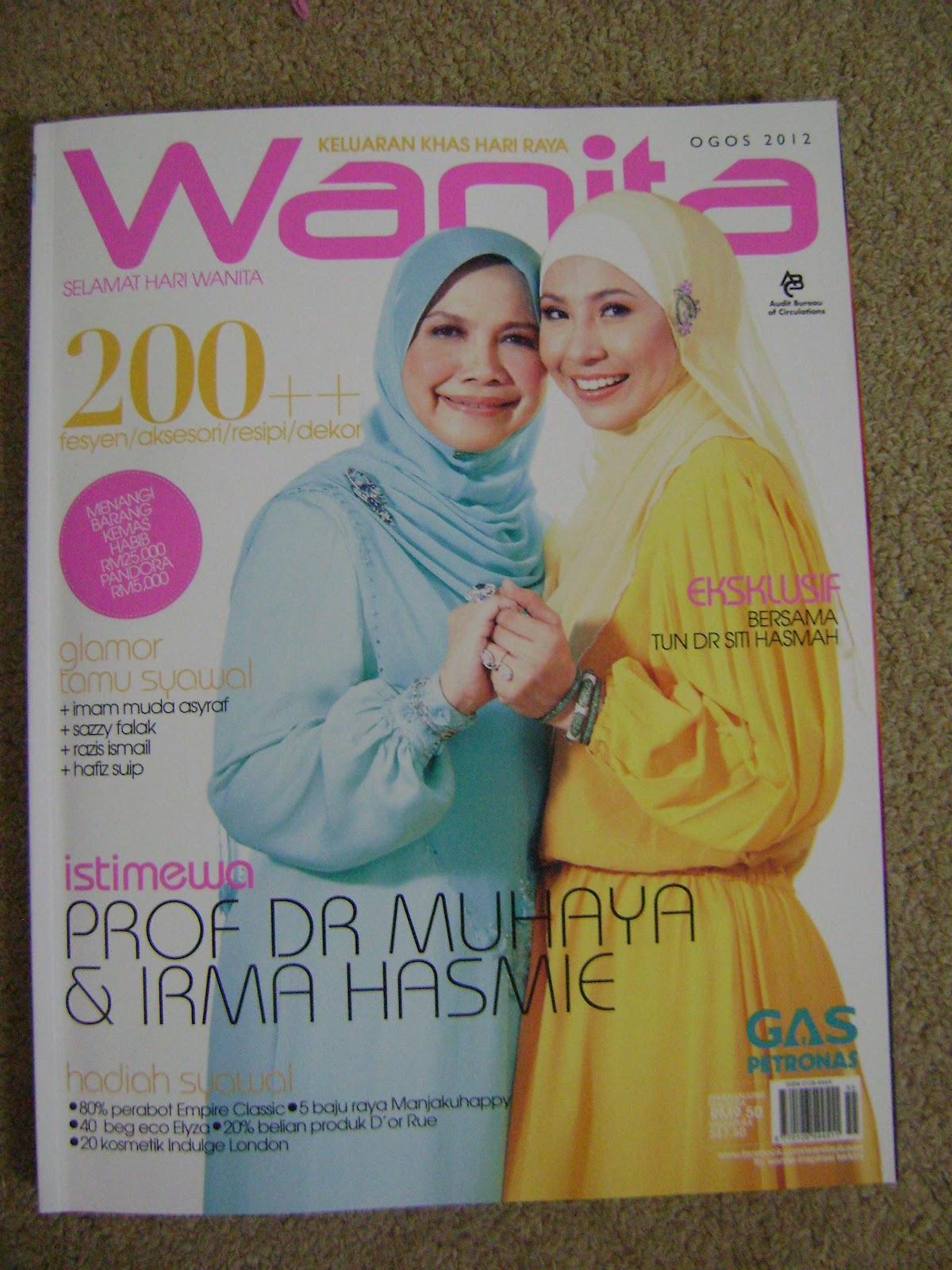 beli keluaran Ogos 2012 sebab surat saya tersiar dalam majalah Wanita