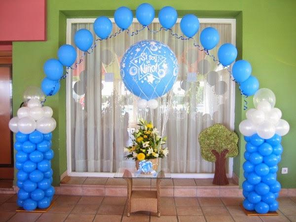 Decoraciones en globos y animaciones de fiestas infantiles - Decoracion de baby shower nino ...