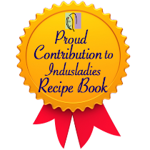 Happy that one of my recipe is selected to in the recipe book of Indusladies