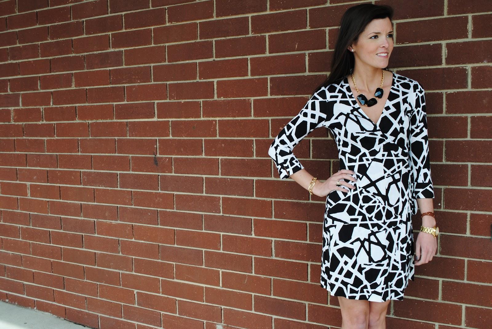 Designer black and white dresses