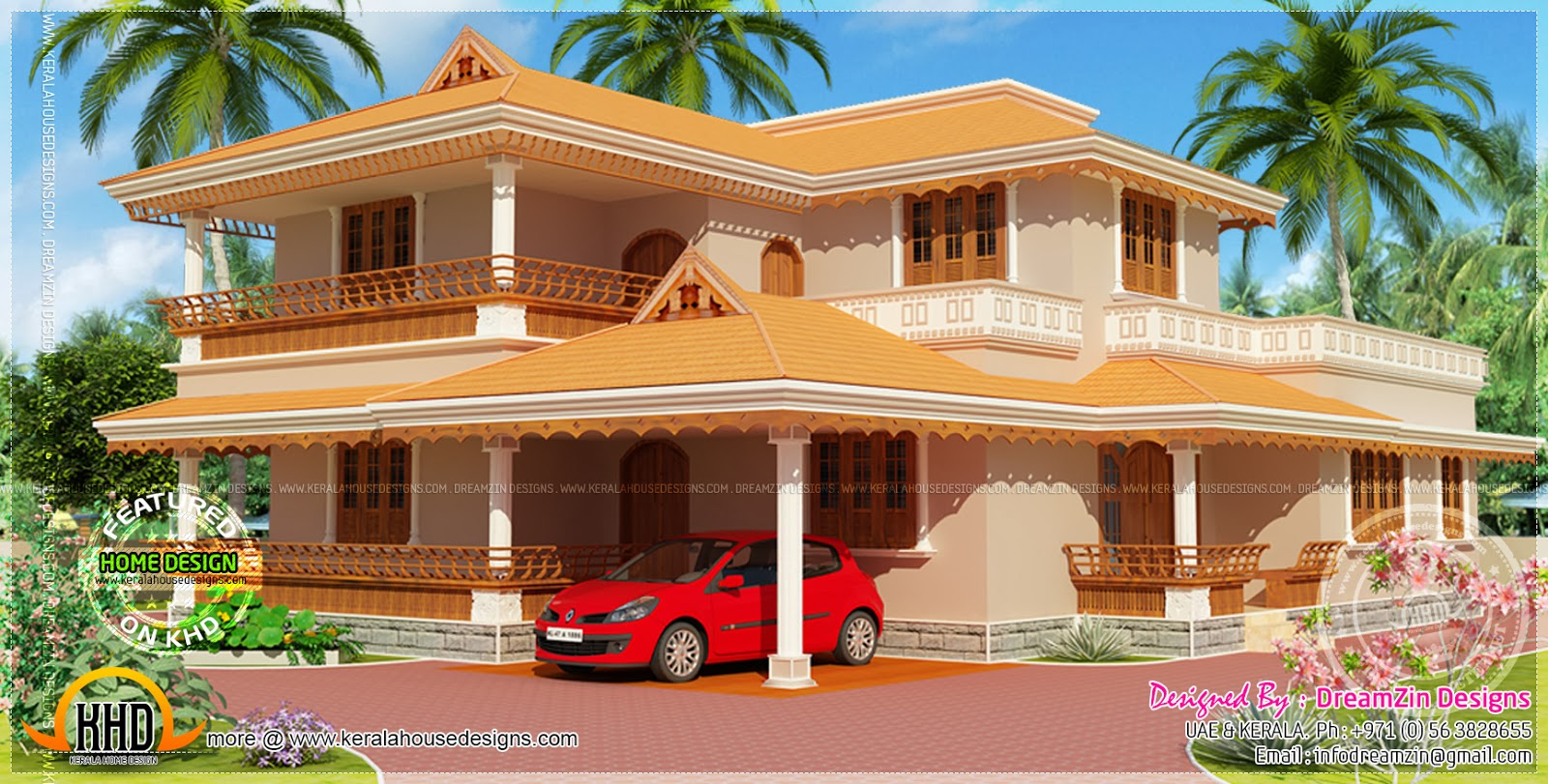 House With Compound Wall Design Home Kerala Plans