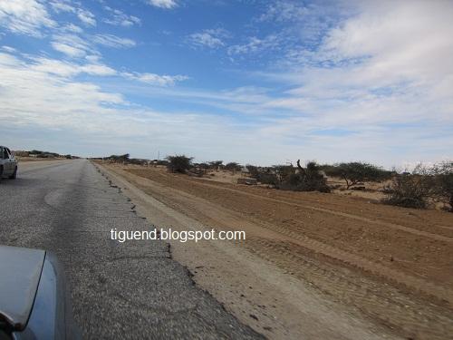 وجود مخـــاطر على عدة مقاطع من طريق (نواكشوط - روصو)