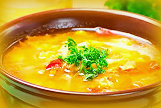 Sopa de papa amarilla