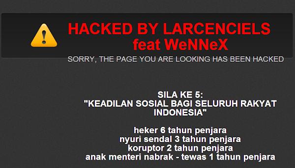 Situs Divkum Polri Go id kena Hack