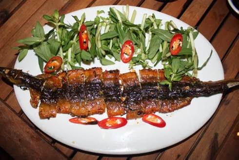 Bí quyết làm món Lươn nướng lá chanh ngon