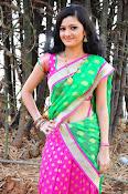Pujitha sizzling in half saree-thumbnail-18