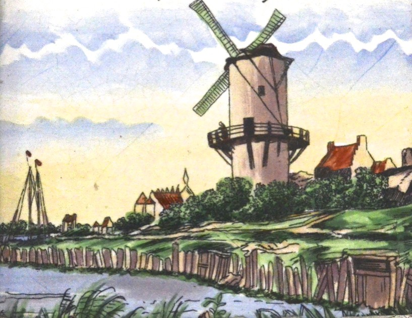 wind mill, holland, netherlands, village, sky