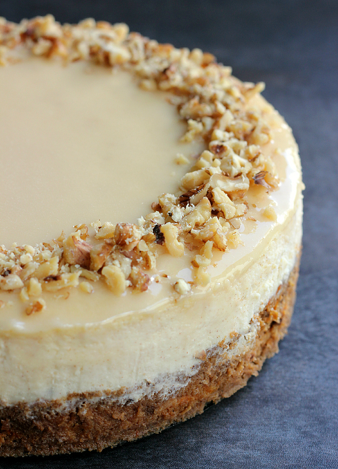 Carrot Cake Cheesecake Prep Time 15 Minutes Baking Time 2 Hours Yields One 9 Inch Round Cheesecake 14 16 Servings Adapted From Food Network