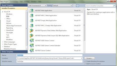 Open ASP.NET Project