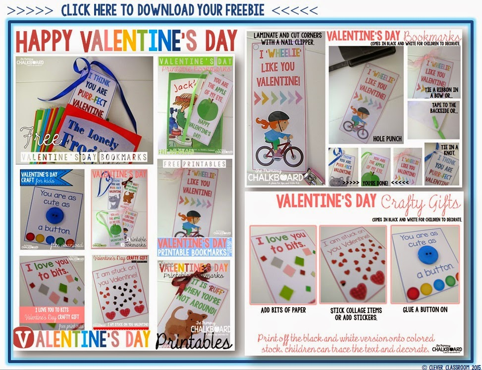 Free download for Valentines Day by Clever Classroom