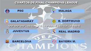 Clasificados a los Cuartos de Final Champions League 2013