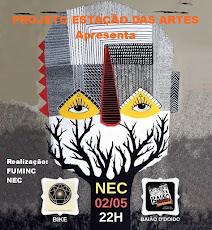 BANDAS: BAIÃO DE D'DOIDO E BIKE - PROJETO ESTAÇÃO DAS ARTES. NEC, DIA 02/05, ÀS 22H.