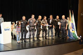 Secretário municipal de Segurança Pública, Marcos Antonio da Luz, participa da cerimônia de premiação da 30º Batalhão da PM