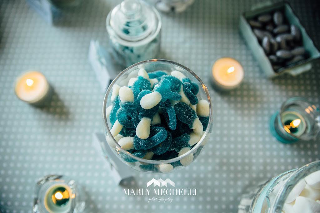 bonbons decoration bleu