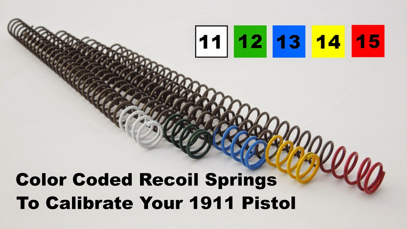 Glock & 1911 Recoil Calibration Kits