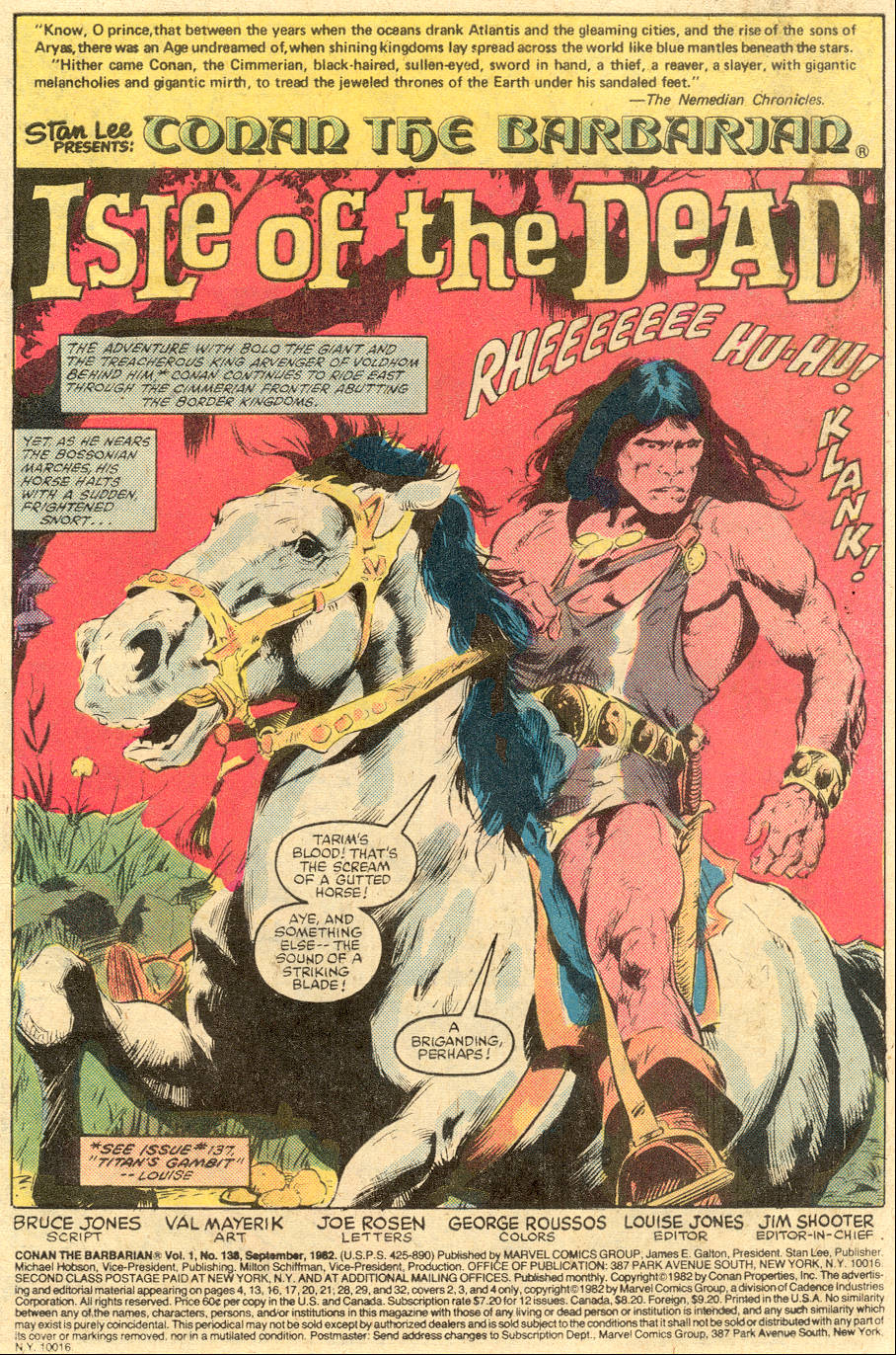 Conan the Barbarian (1970) Issue #138 #150 - English 2