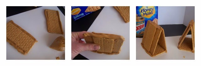 Graham Cracker Houses and Snowy Peanut Butter (No-Bake) Cookies #shop #PBandG #CollectiveBias