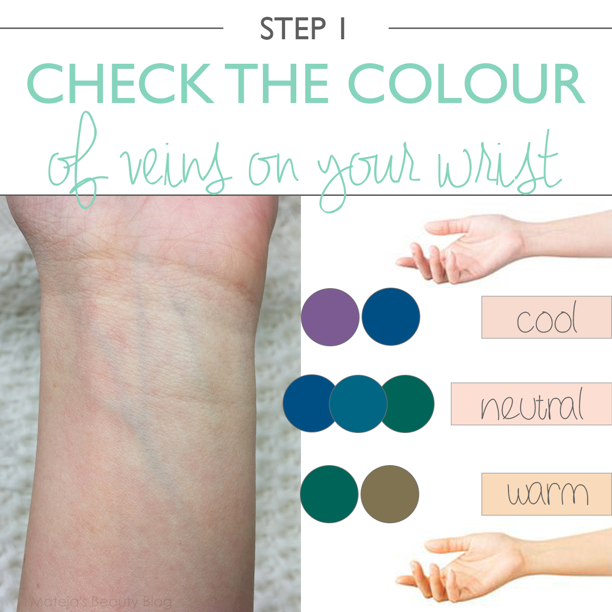 Image result for check your veins to detect undertone