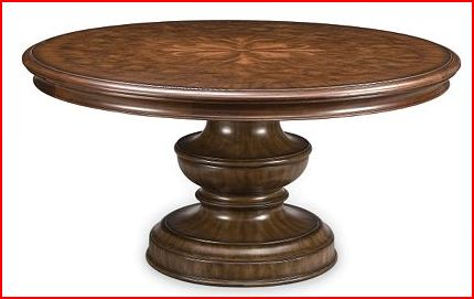magnolia round dining table in dark oak is also 60 inches in diameter