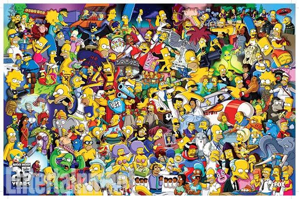Poster 25 aniversario de los Simpson