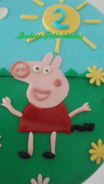 C�mo hacer a Peppa Pig con fondant en 2D