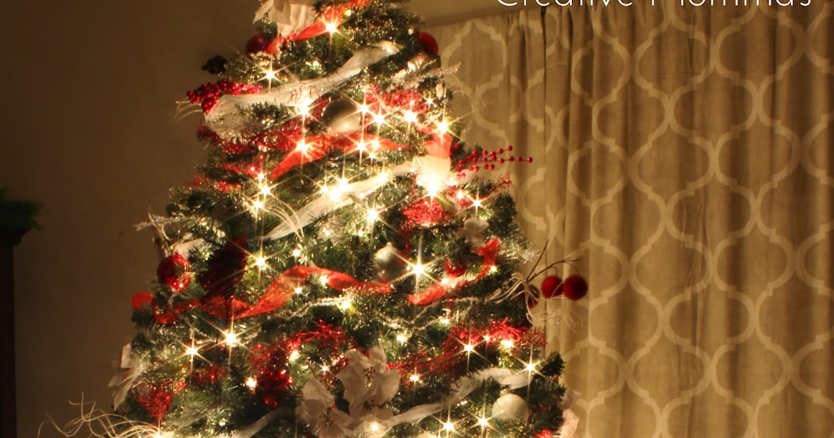 Creative Mommas Red White Christmas Tree