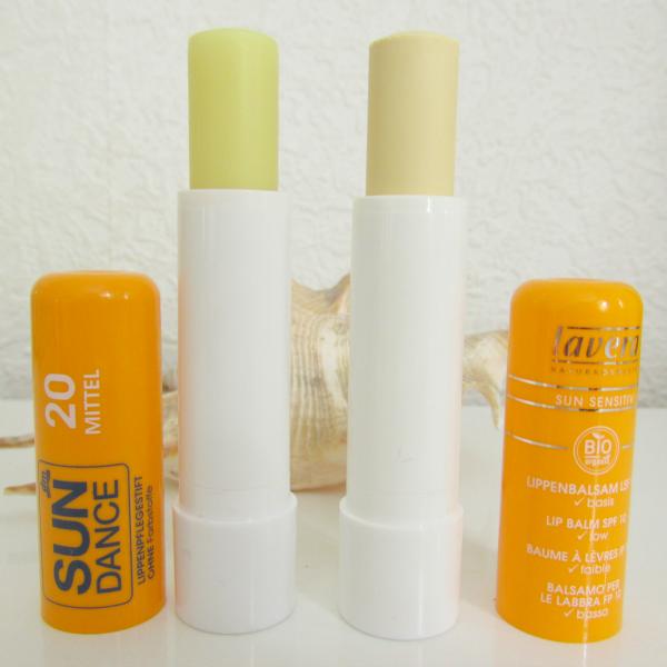 SunDance Lippenpflegestift und Lavera Sun Lippenpflegestift10