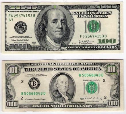 Dolar antigo e dolar novo