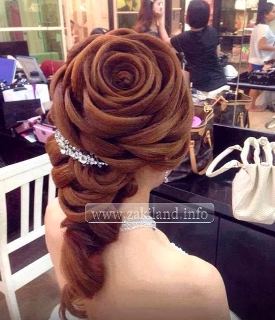 Coupe cheveux fleur تسريحة شعر على شكل وردة