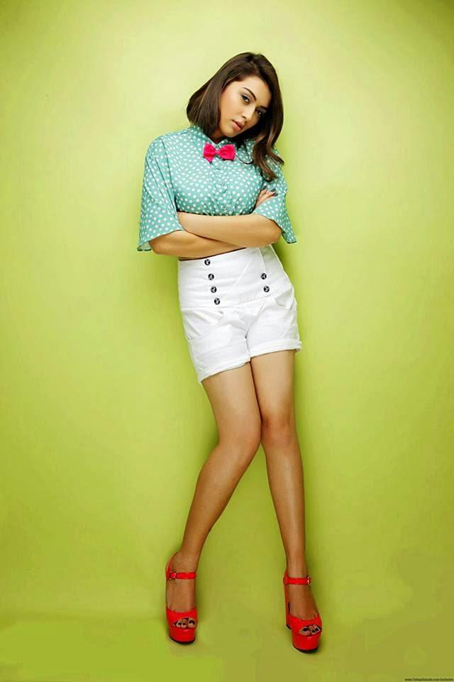 Hansika Latest Photoshoot In White Shorts