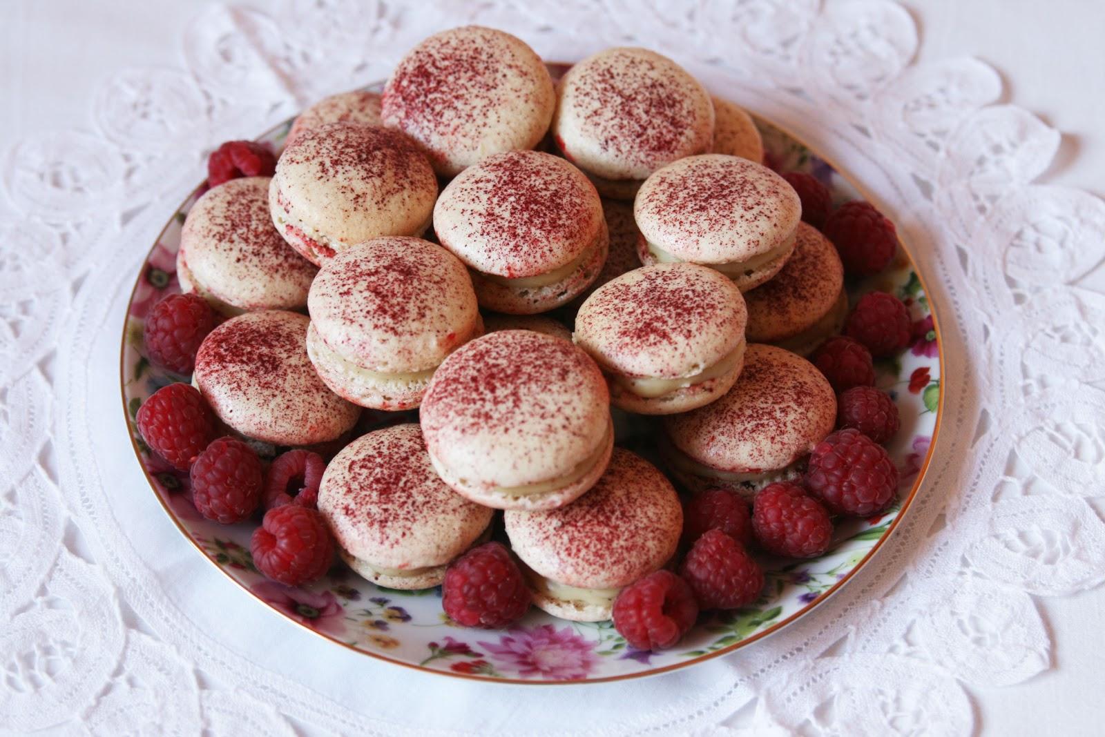 Cinnamon Girl White Chocolate And Raspberry Macarons