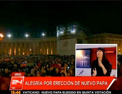 Montaje de un falso error en la TV chilena