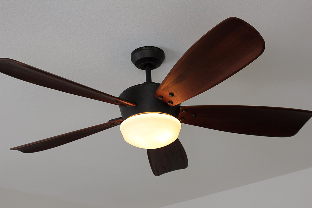 ... Oil-Rubbed Bronze Ceiling Fan with Light Kit in the master bedroom