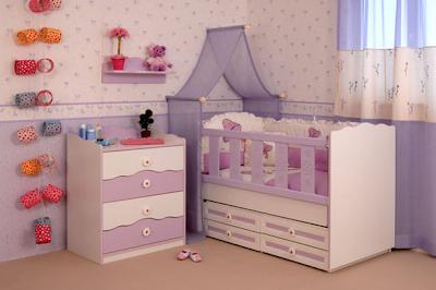 dormitorio bebé lila