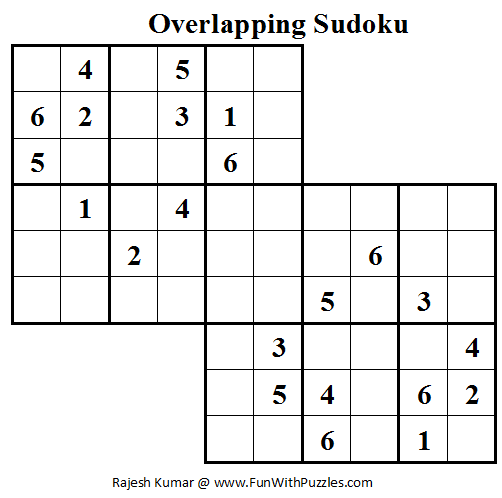 Overlapping Sudoku (Mini Sudoku Series #15)