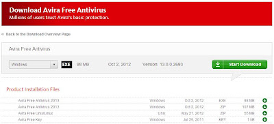 Download Avira Antivirus 2013