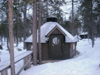 hut in the snow, Inari Finland