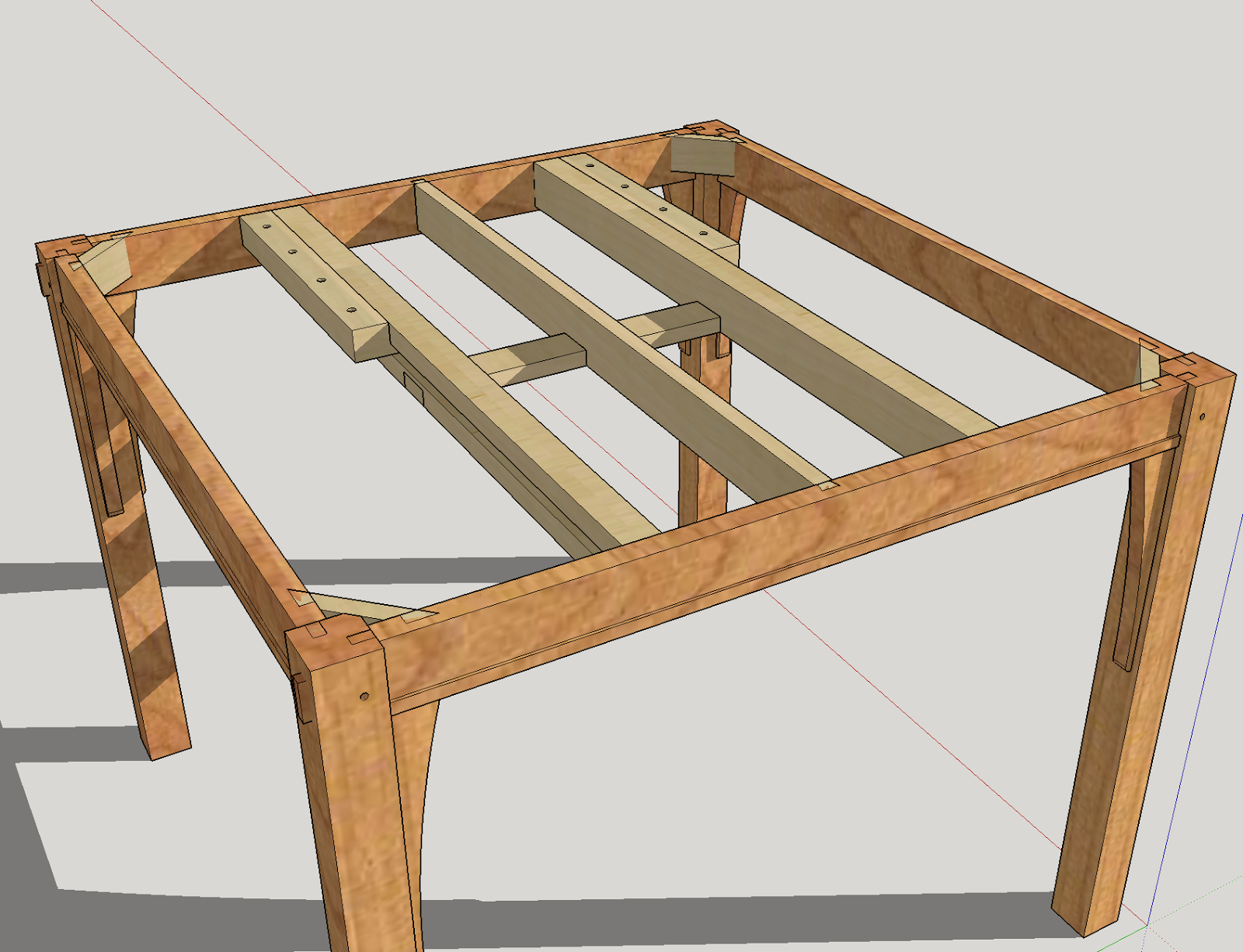 Honey Do Woodworking Flip Top Table Slide System