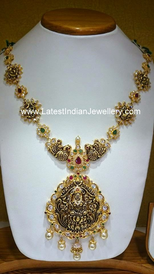 Pacchi Work Lakshmi Haram