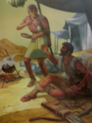 Esau sells his rights to Jacob