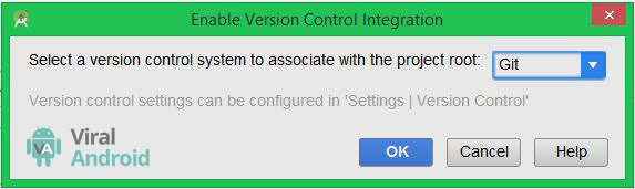 Android Studio Enable Project for Version Control Integration